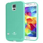 Чехол Mercury Goospery Jelly Case для Samsung Galaxy S5 SM-G900 (бирюзовый, гелевый)