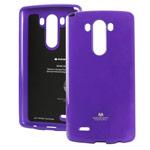 Чехол Mercury Goospery Jelly Case для LG G3 D850 (фиолетовый, гелевый)