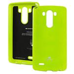 Чехол Mercury Goospery Jelly Case для LG G3 D850 (зеленый, гелевый)