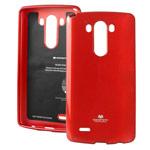 Чехол Mercury Goospery Jelly Case для LG G3 D850 (красный, гелевый)