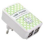 Зарядное устройство Yotrix USB Power Adapter универсальное (сетевое, 2.4A, 4xUSB, белое)