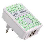 Зарядное устройство Yotrix USB Power Adapter универсальное (сетевое, 2.1A, 2xUSB, белое)