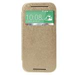 Чехол Mercury Goospery WOW Bumper View для HTC new One (HTC M8) (золотистый, кожаный)