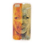 Чехол Yotrix CreativeCase для Apple iPhone 5/5S (Double Face, гелевый) (NPG)