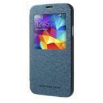 Чехол Mercury Goospery WOW Bumper View для Samsung Galaxy S5 SM-G900 (синий, кожаный)