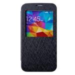 Чехол Mercury Goospery WOW Bumper View для Samsung Galaxy S5 SM-G900 (черный, кожаный)