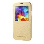 Чехол Mercury Goospery WOW Bumper View для Samsung Galaxy S5 SM-G900 (золотистый, кожаный)