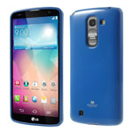 Чехол Mercury Goospery Jelly Case для LG G Pro 2 D838 (синий, гелевый)