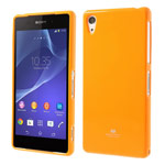 Чехол Mercury Goospery Jelly Case для Sony Xperia Z2 L50t (оранжевый, гелевый)