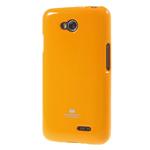 Чехол Mercury Goospery Jelly Case для LG L70 D325 (оранжевый, гелевый)