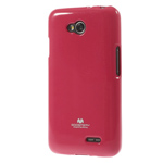 Чехол Mercury Goospery Jelly Case для LG L70 D325 (малиновый, гелевый)