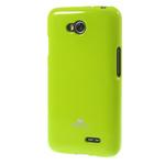 Чехол Mercury Goospery Jelly Case для LG L70 D325 (зеленый, гелевый)
