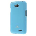 Чехол Mercury Goospery Jelly Case для LG L70 D325 (голубой, гелевый)