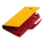 Чехол Mercury Goospery Fancy Diary Case для Apple iPhone 5/5S (желтый, кожаный)