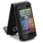 Чехол YooBao Slim case для HTC Incredible S S710e (черный, кожанный)