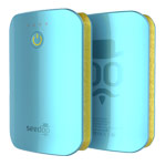 Внешняя батарея Seedoo Mag-Graffiti универсальная (7800 mAh, голубая, microUSB)
