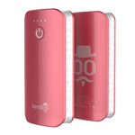 Внешняя батарея Seedoo Mag-Graffiti универсальная (5200 mAh, розовая, microUSB)