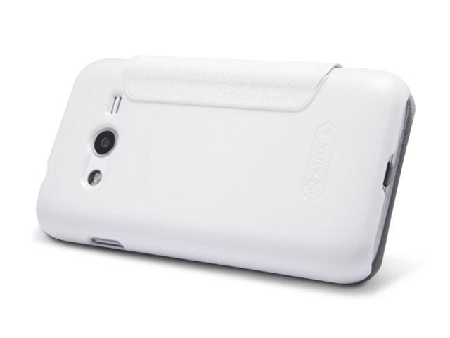 Чехол Nillkin Sparkle Leather Case для Samsung Galaxy Ace NXT G313H (белый, кожаный)