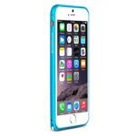 Чехол Yotrix BumperArc для Apple iPhone 6 (голубой, алюминиевый)