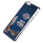 Чехол Harley Davidson An American Legend для Apple iPhone 6 plus (голубой, металлический)