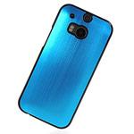 Чехол Yotrix MetalCase для HTC new One (HTC M8) (голубой, алюминиевый)