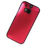 Чехол Yotrix MetalCase для HTC new One (HTC M8) (красный, алюминиевый)