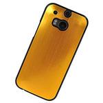 Чехол Yotrix MetalCase для HTC new One (HTC M8) (золотистый, алюминиевый)