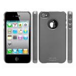 Чехол SGP Ultra Thin Vivid Series для Apple iPhone 4 (темно-серый, пластиковый)