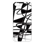 Чехол Dexim Abstract Case для Apple iPhone 5/5S (черный/белый, пластиковый)