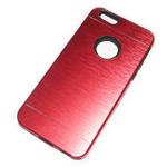 Чехол Yotrix MetalCase Silicone для Apple iPhone 6 (красный, алюминиевый)