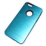 Чехол Yotrix MetalCase Silicone для Apple iPhone 6 (голубой, алюминиевый)