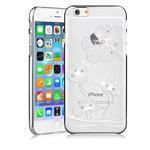 Чехол Comma Crystal Flora для Apple iPhone 6 plus (серебристый, пластиковый)