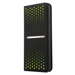 Чехол USAMS Groove Series для Apple iPhone 6 plus (черный/зеленый, кожаный)