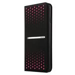 Чехол USAMS Groove Series для Apple iPhone 6 plus (черный/розовый, кожаный)