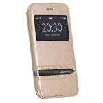 Чехол USAMS Merry Series для Apple iPhone 6 plus (золотистый, кожаный)