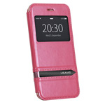 Чехол USAMS Merry Series для Apple iPhone 6 plus (розовый, кожаный)