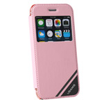 Чехол USAMS Viva Series для Apple iPhone 6 plus (розовый, кожаный)