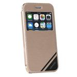Чехол USAMS Viva Series для Apple iPhone 6 plus (золотистый, кожаный)