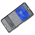 Чехол USAMS Merry Series для Sony Xperia Z3 compact M55w (черный, кожаный)