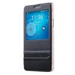 Чехол USAMS Merry Series для Samsung Galaxy Note 4 N910 (черный, кожаный)