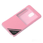 Чехол USAMS Viva Series для Samsung Galaxy Note 4 N910 (розовый, кожаный)