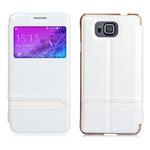 Чехол USAMS Merry Series для Samsung Galaxy Alpha G850 (белый, кожаный)