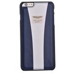 Чехол Aston Martin Racing Strap для Apple iPhone 6 plus (синий/белый, кожаный)