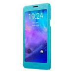 Чехол USAMS Touch Series для Samsung Galaxy Note 4 N910 (голубой, кожаный)