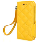 Чехол X-doria Dash Folio Fruit case для Apple iPhone 6 plus (желтый, кожаный)
