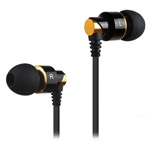 Наушники ipipoo stereo earphone iP-A400Hi (черный/золотистый, пульт/микрофон, 20-20000 Гц, 9 мм)