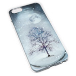 Чехол Yotrix Aquarelle для Apple iPhone 6 (Winter tree, пластиковый)