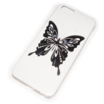 Чехол Yotrix Aquarelle для Apple iPhone 6 (Butterfly on white, пластиковый)