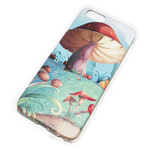 Чехол Yotrix Aquarelle для Apple iPhone 6 (Mushrooms, пластиковый)