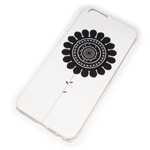 Чехол Yotrix Aquarelle для Apple iPhone 6 (Sunflower on white, пластиковый)